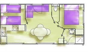 Plan MH 4 6 Places avec terrasse couverte 8m34x4m